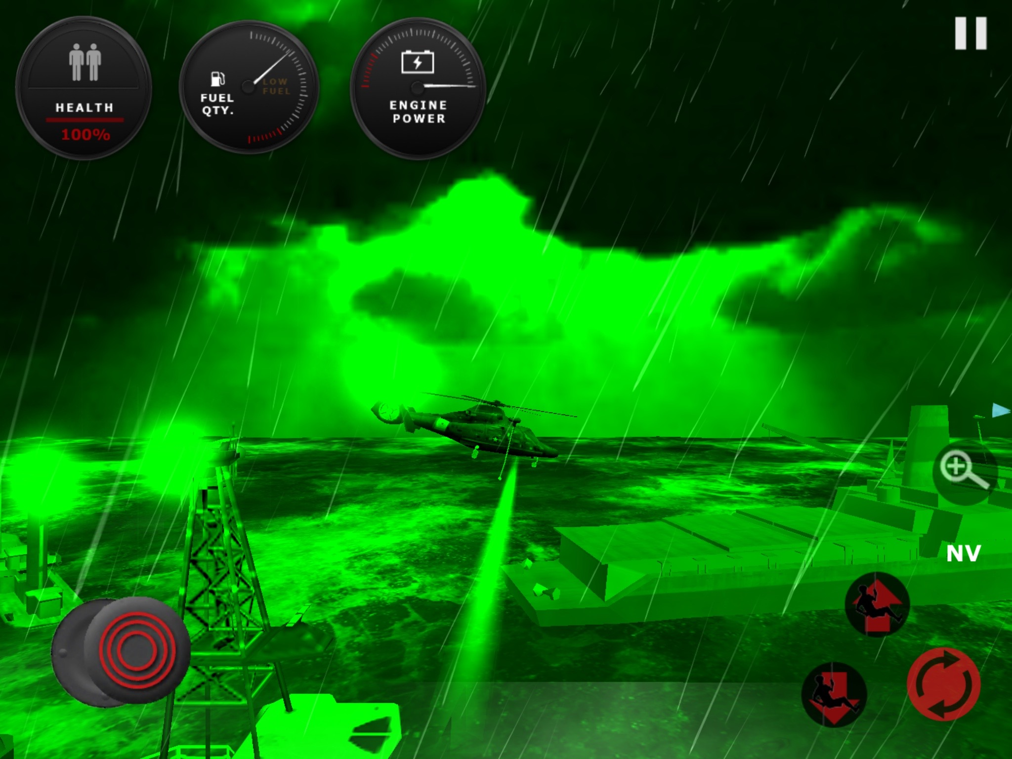 Helicopter Rescue night vision mode