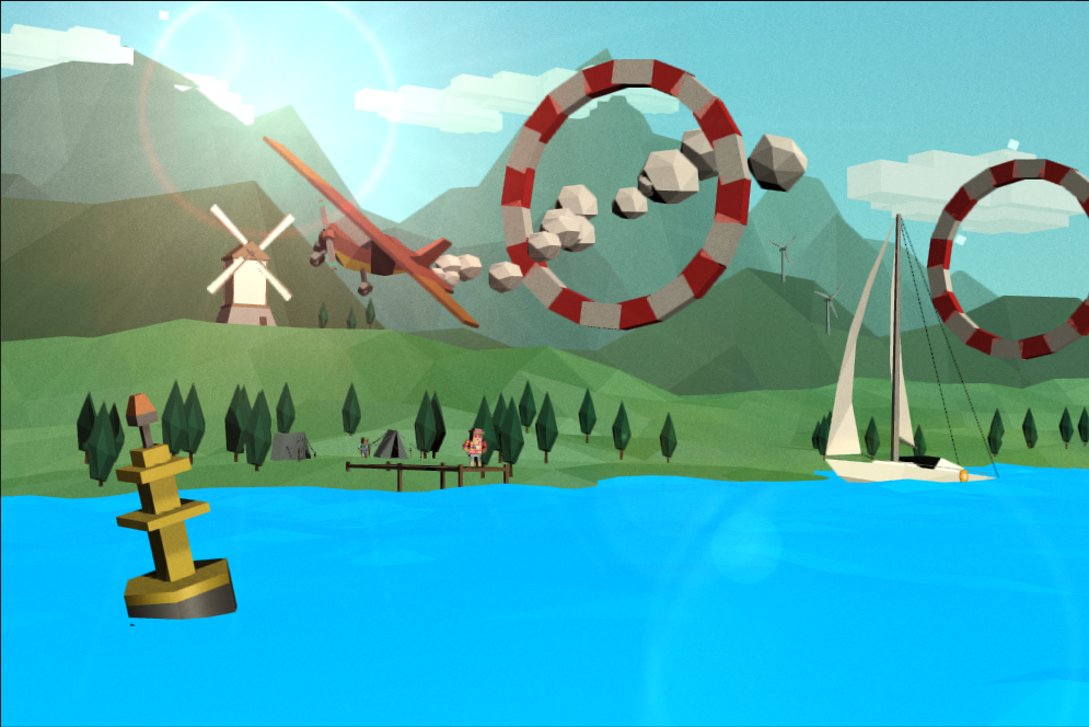 Loop da Loop low poly plane game