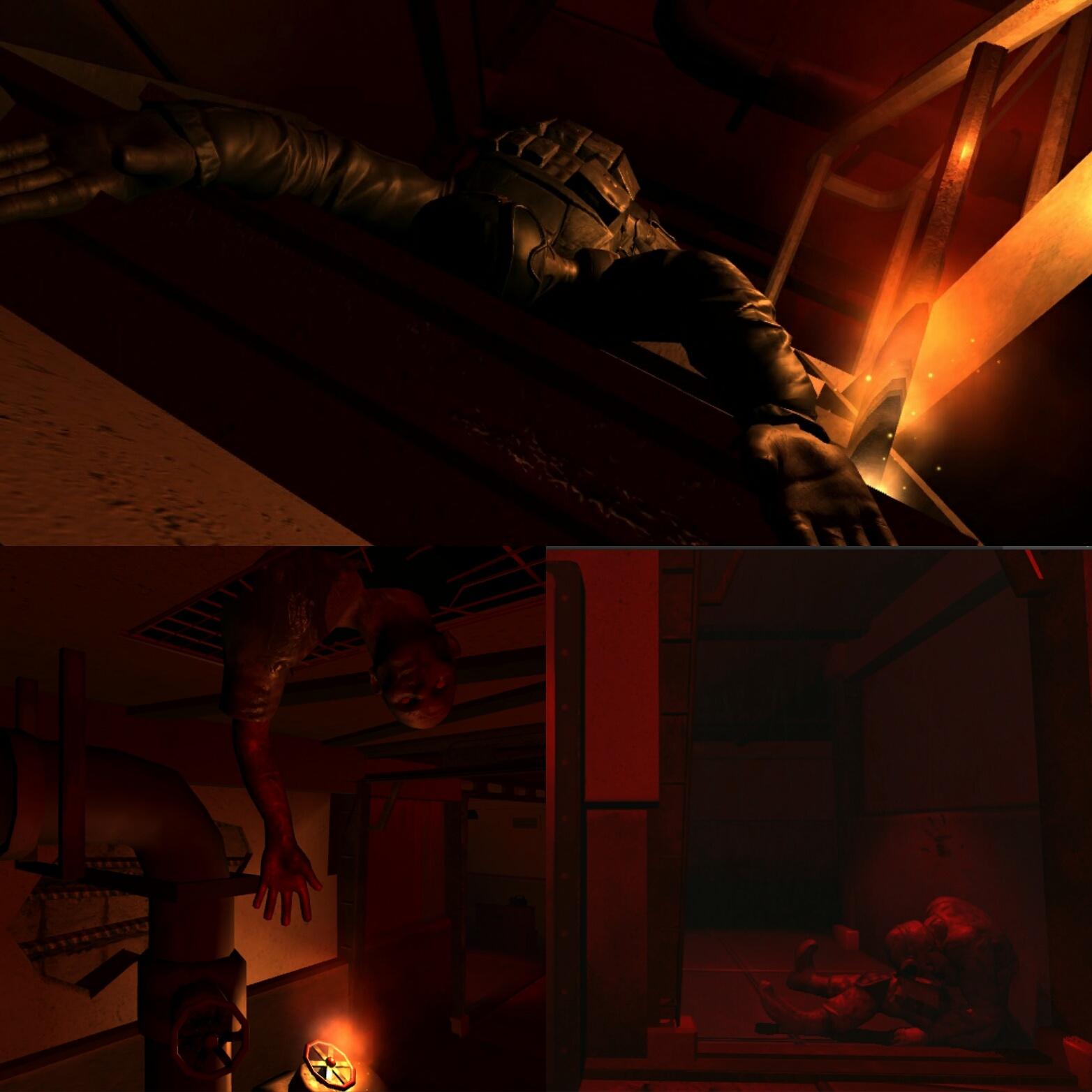 VR Horror dead body
