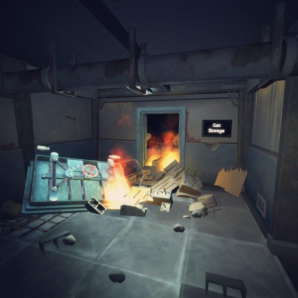 VR Horror Room on fire